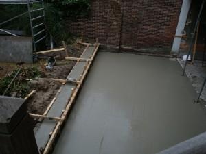 beton terras en rand